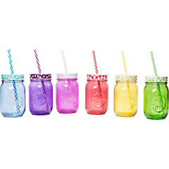 Set de jarras vidrio 14 cm 6 unidades