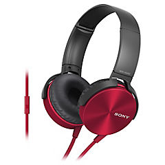Audífonos casco plegable con micrófono rojo MDR-XB450AP R