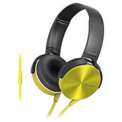 Audífonos casco plegable con micrófono amarillo MDR-XB450AP Y
