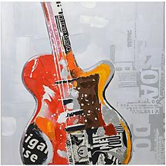 Oleo Guitarra eléctrica 80x80 cm 1