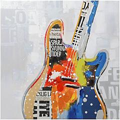 Oleo Guitarra eléctrica 80x80 cm 2