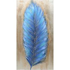 Oleo Pluma colorida 120x60 cm 2