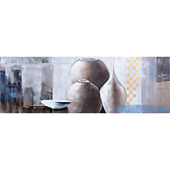 Oleo Jarrones blancos 150x50 cm 1