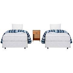 Dúplex cama americana base normal 1 plaza con velador y textil