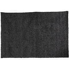 Alfombra fieltro Metrópolis negra 200x290 cm