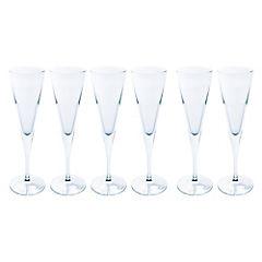 Set de copas flauta vidrio 150 ml 6 unidades