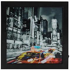 Cuadro Taxi con luz LED 30x30 cm