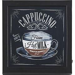Cuadro Cappuccino con luz LED 30x30 cm