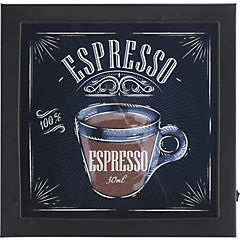 Cuadro Espresso con luz LED 30x30 cm