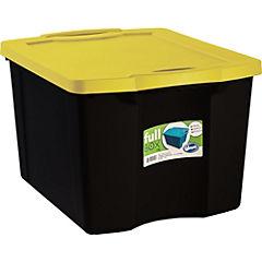 Caja Fullbox 75 l negro y amarillo