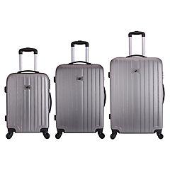 Set de maletas multidireccional 3 unidades Gris
