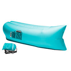 Reposera inflable azul