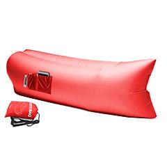 Reposera inflable roja