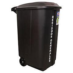 Contenedor de basura con ruedas 189 l negro