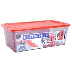 Caja organizadora 6 litros 12x20x34 cm transparente