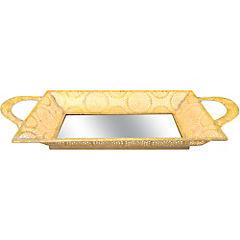 Bandeja decorativa metal 26x53x7 cm