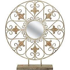 Adorno con espejo 73 cm metal