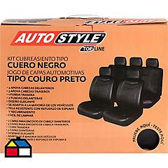 Set de fundas para asientos PVC negro 11 piezas