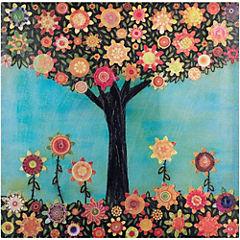 Cuadro 60x60 cm Árbol con flores 1