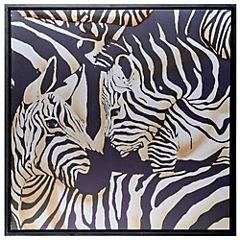 Cuadro 2 Zebras 100x100 cm
