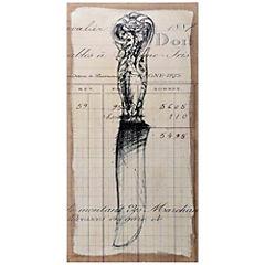 Cuadro arpillera 50x100 cm Cuchillo