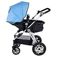 Coche para bebé 113x60x80 cm azul