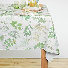 Mantel hierbas blanco 150X150 cm