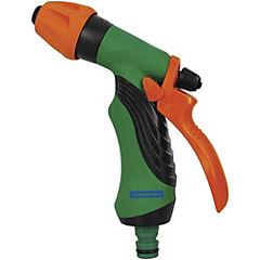 Pistola de riego ajustable de plástico con grip