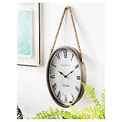 Reloj metal con cuerda 35x24 cm