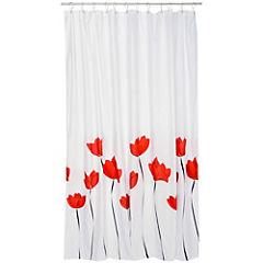 Cortina de baño Tulipanes rojo