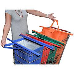 Set de 4 bolsas ecológicas para supermercado plegables