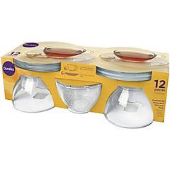 Juego de té 12 piezas transparente
