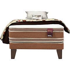 Box Americano Joya Gold Dos, 1.5 plazas, con textil