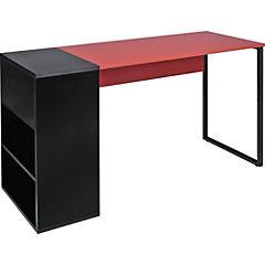 Escritorio Denver 130x50x75 cm negro y rojo
