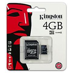Micro SD 4 GB con adaptador CL4