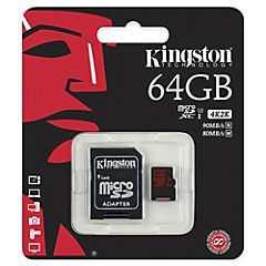 Micro SD 64 GB con adaptador UHS1