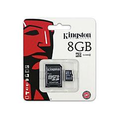 Micro SD 8 GB con adaptador CL4