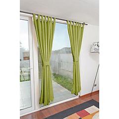 Set de cortinas 2 paños presillas verde pistacho