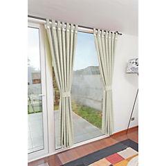 Set de cortinas 2 paños presilla con botón crudo