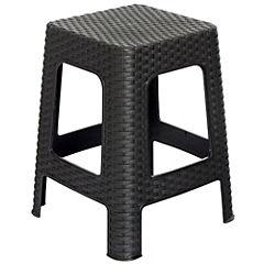 Banco policarbonato 35,5x35,5x46 cm negro
