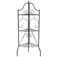 Portamacetero esquinero de metal 44x32x122 cm negro