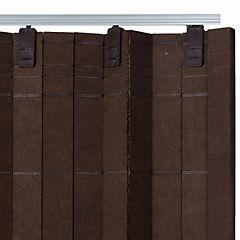 Puerta plegable para clóset 200x120 cm wengué