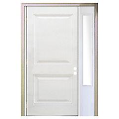 Puerta fibra de 90X200 cm 2 paneles con mampara 30