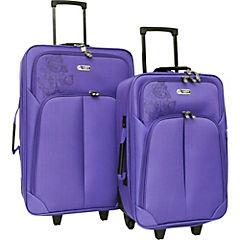 Set de maletas dakar 47 litros lila 2 unidades