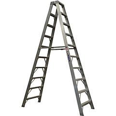 Escala tijera aluminio 2 accesos 3.95 m 170 kg