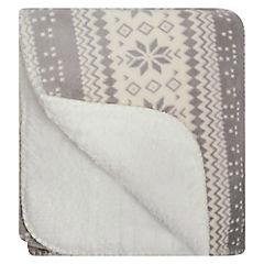 Manta Invierno gris 125x150 cm