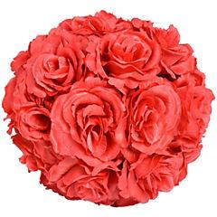 Bola de rosas artificial 20 cm Rojo
