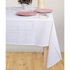 Mantel blanco texturado 200X200 cm