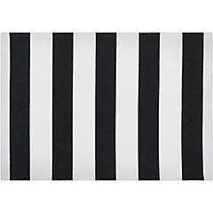 Individual blanco/negro y rayas 48X33 cm