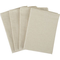 Set de 4 servilletas beige